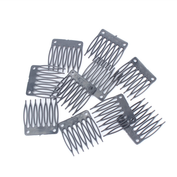 Wig Accessories Seven tooth Plastic Comb 3.2cm*3.4cm Hair Wig Combs and Clips For Wig Cap Free Shipping