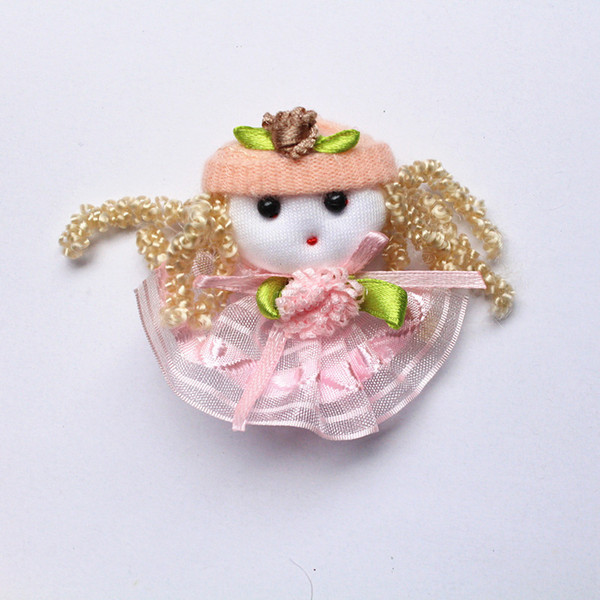 2016 new LITTLE STOCK 20pc/lot Lovely Girls Pink Dress Baby Girls Hair Clips USUAL Quality Fabric Kids Peach Flower Hairpins Wholesale