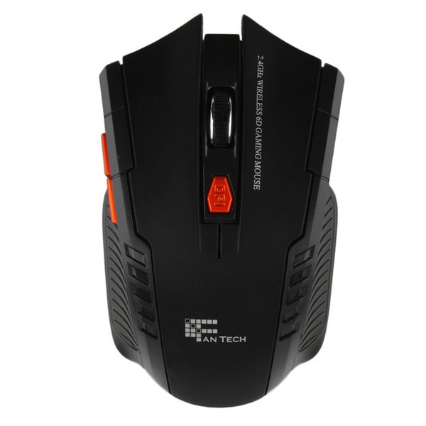 Wholesale- FANTECH 2.4GHz USB 2.0 Wireless Mouse 6D Gaming Optical Gaming Mouse Mice Computer Mouse 2400DPI for Desktop Laptop PC Pro Gamer