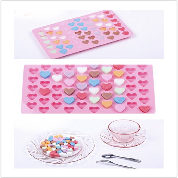 The silicone chocolate ice mold Love 55 even the heart shape silicone cake mold baking pan IB028