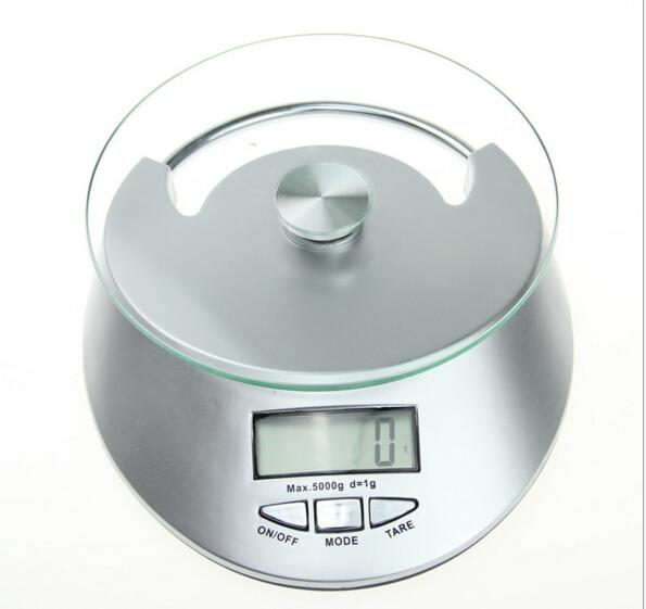50pcs Kitchen Scale 5KG/1g LCD Display Digital Bowl-shape Scale Household Kitchen Weight Tool