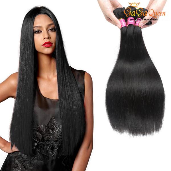 4Bundles Straight Brazilian Virgin Hair Weave Grace Hair Company Unprocessed Brazilian Straight Human Hair Extension 8A Grade Free Shipping