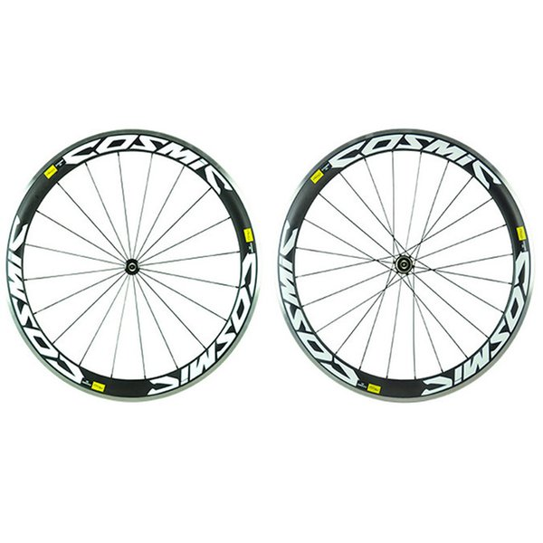 Clincher alloy Wheels Made in China DIY painting road bike 50mm carbon alloy wheelset with 3K 23mm width A271 hub free shipping
