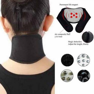 Health Care Self Heating Tourmaline Magnetic Neck Heat Therapy Support Belt Wrap Brace Massager Slim Equipment CCA6575 500pcs
