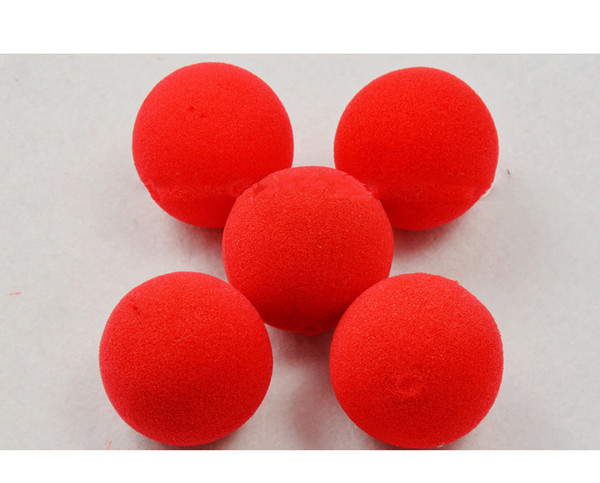4PCS/Set Factory Price Magic Red Sponge Ball Clip Circus Clown Nose Comic Party/Christmas party as gift