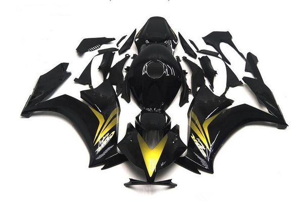 Three free beautiful gift and new high quality ABS fairing plates for HONDA CBR1000RR 2012-2016 good nice body set nice gold black