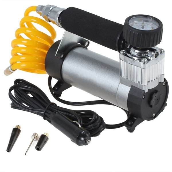 Portable Super Flow Car Tire Tyre Inflator DC 12V 100PSI Metal Vehicle Auto Electric Pump Air Compressor CEC_001