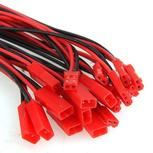 top popular 100mm  150mm Red Black JST Male and Female Jack Wire Connector Plug Cable for RC BEC Lipo Battery 2021