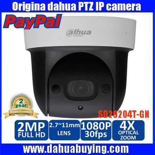 Original english dahua SD29204S-GN 1080p 2mp IR 30M nightvision Micro SD memory 4x network ptz mini dome camera DH-SD29204S-GN