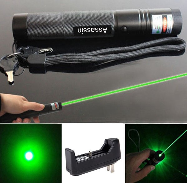 Cat Toy Green Laser Pointer Pen 532nm Powerful 301 Green Laser Beam Light + 18650 Rechargeable Battery+ Charger