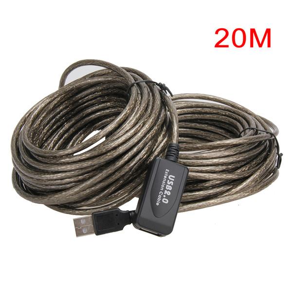 All'ingrosso- Nuovo USB 2.0 5M / 10M / 15M / 20M Cavo di prolunga USB Maschio a femmina Cavo di prolunga Cavo ad alta velocità Scheda dati