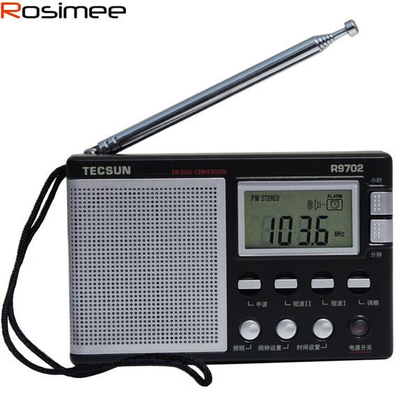 Wholesale-New Tecsun R-9702 R9702 FM / MW / SW Stereo World Band receiver DSP Radio Portable Radio Built In Speaker Radio High Sensitivity