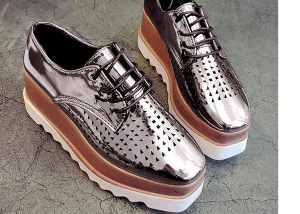 spring new large base platform shoes head paint single net surface breathable leisure joker for women's shoes FuRuiSource