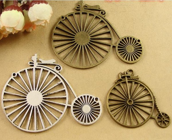 DIY jewelry accessories wholesale manual alloy materials Bicycle charms, Europe and the United States retro personality bike pendants series