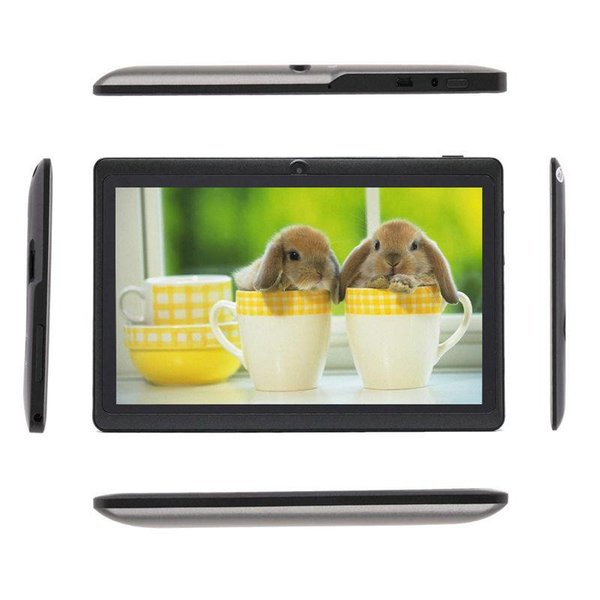 Q88 Tablet PC 7 pollici Android 4.4 Tablet ALLwinner economici A33 Quade Core Dual Camera Tablet ROM 8GB ROM 1 GB RAM capacitivo