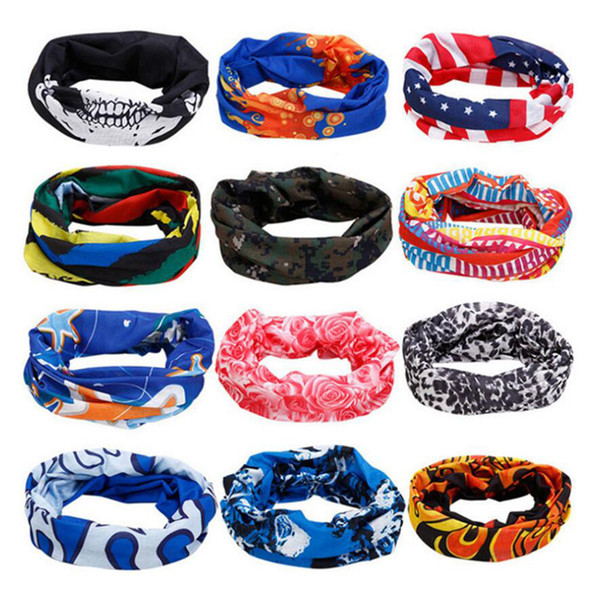 Bicycles multi-color seamless outdoor scarf magic skull riding sports scarf bib dust masks cycling changable masks for sale