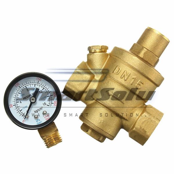 Come Calcolare La Pressione Dell Acqua Del Rubinetto.Acquista 1 2 Regolatore Di Pressione Dell Acqua In Ottone Dn15 Prv