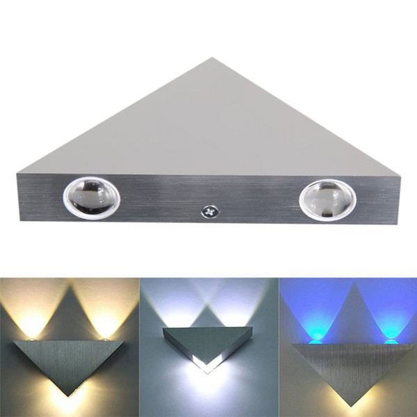 top popular NEW 3W Triangle led wall lights high power dimmable led Modern Home lighting indoor and outdoor decoration light AC90-260V CE UL 2021