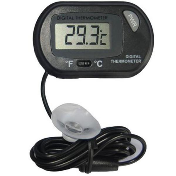 best selling 2017 new LCD Digital Fish Tank Aquarium Thermometer Temperature Water Terrarium Black Aquariums Aquariums & Fish free shipping
