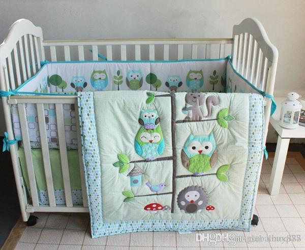 Nursery Bedding Sets Boy.Spanish Baby Bedding Set Boy Crib Bed Set Owl On Tree Home Inc Comforter Crib Padding Mattress Cover Dust Ruffle Boys Bedroom Bedding Sets Toddler Boy