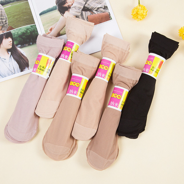 best selling New Spring Summer Autumn Multi Pure Color Quality Stereotype Women Girls Silk Socks Cool Breathable Cool Sexy Black Skin Sock Free Shipping