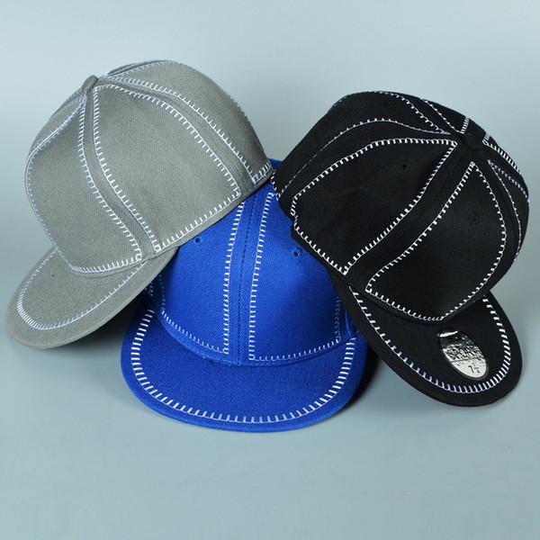 Designer Plaine Hip Hop Snapbacks Chapeaux Blanc Strapback Réglable Pour Adultes Hommes Femmes Casquettes De Baseball Sport Noir Gris Bleu Couleur Unie