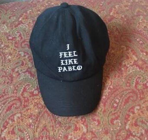 I Feel Like Pablo Hat Hip Hop réglable Baseball Cap Yeezus Noir Snapback LEBRON cap 6 panel hat Outdoor sports bone gorras swag