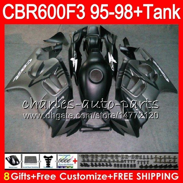 8Gifts 23 Colors For HONDA CBR600F3 95 96 97 98 CBR600RR FS matte silver 2HM22 CBR600 F3 600F3 CBR 600 F3 1995 1996 1997 1998 silver Fairing
