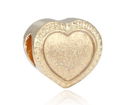Pandora Gümüş Bilezik Uyar Noel Altın Kalp Boncuk Charms Için Diy Avrupa Tarzı Yılan Charm Zinciri Moda DIY Takı