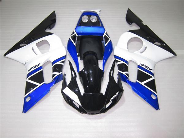 Motorcycle plastic fairings for Yamaha YZF R6 98 99 00 01 02 blue white fairing kit YZFR6 1998-2002 OT42
