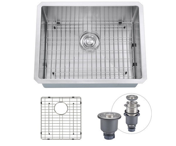 2019 From USA 23x18x10 Inch Handmade Brushed Satin Kitchen Sink Undermount  16 Gauge Stainless Steel Single Bowl With Bottom Grid, Extra Deep From ...