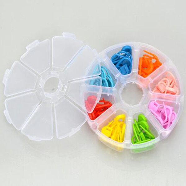 top popular 120pcs set Locking Stitch Markers for Knitting Plastic Stitch Markers Crochet Tools DIY Handmade Knitting Accessories 2021