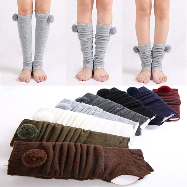 Winter girls 8 kinds of colors Leggings Cuffs Warm Fashion high heels Boots Long Boots Women's foot Boots Yoga Socks Stepping Foot Gaiters