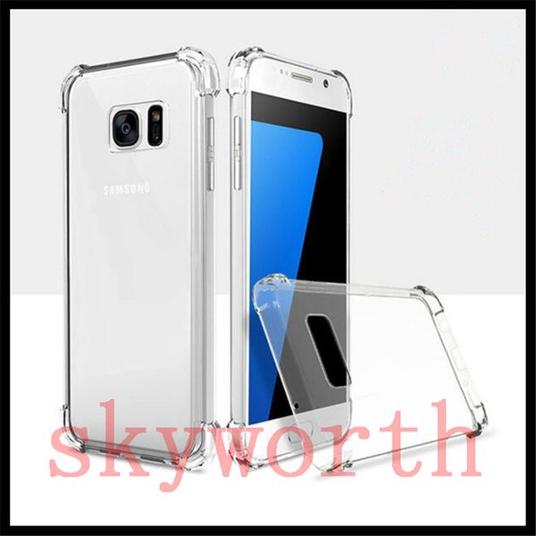 Shockproof Transparent Soft Thicken TPU Case Clear Gel Rubber Back Corner Case Cover for Samsung S8 S9 Note9 iPhone X XR XS Max