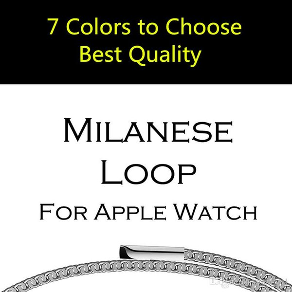 38mm 42mm Original Link Bracelet strap/ Milanese Loop watchbands Stainless Steel band for apple Watch band For Apple iWatch Series 4 3 1 2
