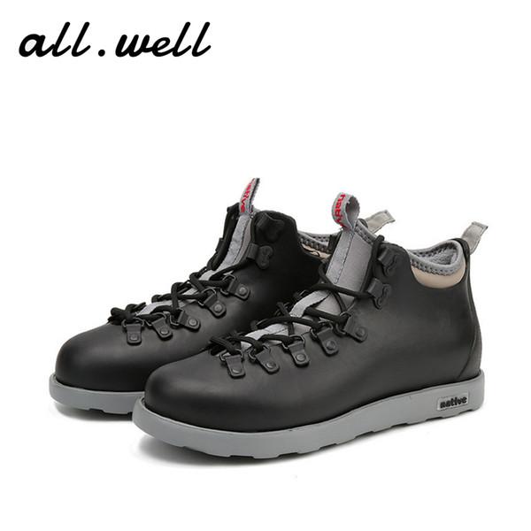 Мужская водонепроницаемых ботинки снега Ева обувь
