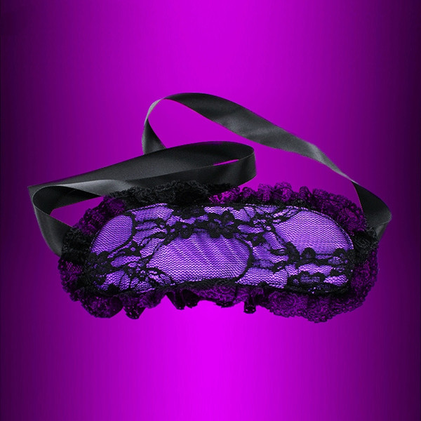 Exotic Adult Games Sex Toys For Couples Sexy Purple Lace Blindfolded Patch Eye Mask Flirting Fun sex supplies Toys For Couple