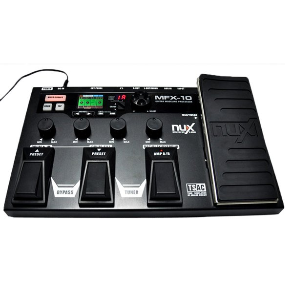 Top Quality NUX MFX-10 Modem Guitar Processor Guitar Effect Pedal Drum Recorder 55 Effect 72 Preset Multi-function