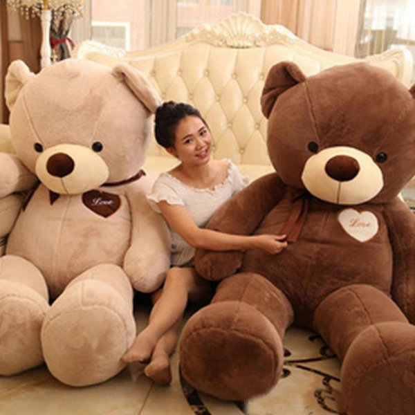 Büyük Dev Peluş Ayı 160 cm Yumuşak Pamuk Dolması Teddy Bears Oyuncaklar Çocuklar için En İyi Hediyeler
