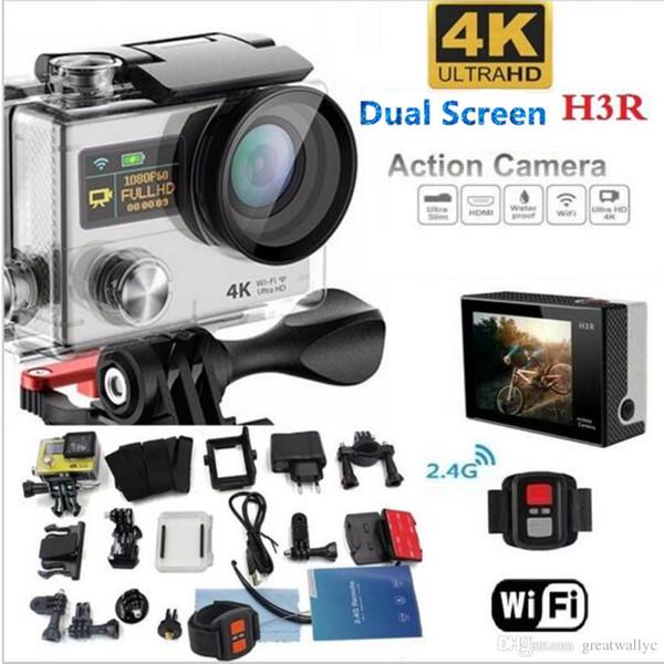 4K WIFI cámara de acción H3R casco impermeable deporte cámara DVR videocámara grabadora de conducción para bicicleta / buceo / surf / esquí / paracaidismo VS H9 H8R