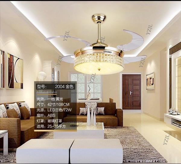 Großhandel Fernbedienung Kristall Decke Fan Lampe 42Zoll Wohnzimmer  Esszimmer Minimalismus Moderne Fan Lichter Decke Kristall LED Fans Von  Kikizhao, ...