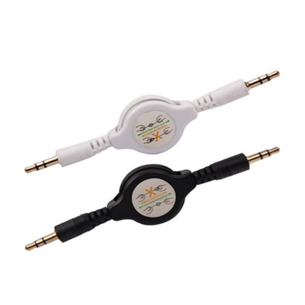 3,5 mm Retractable Data Sync Ladegerät Kabel männlich zu männlich Retractable Car Audio AUX Hilfskabel für iPhone 6 Samsung