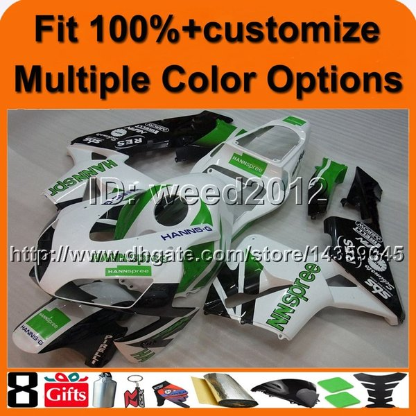 23colors+8Gifts Injection mold GREEN WHITE motorcycle cover for HONDA CBR600RR 2003-2004 CBR 600 RR 03 04 ABS Plastic Fairing