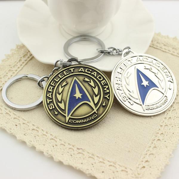 Großhandelscharme-europäische Art 20 PCS klassische Star Trek Keychain Befehl Logo-Anhänger-Schlüsselkette für Männer und Frauen Freeshipping
