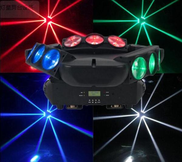 CREE 9x12W Led Spider Light RGBW DMX Luci da palco Dj Led Spider Moving Head Beam Light