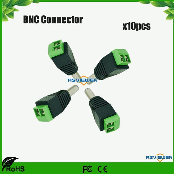 Free shipping 2.1 x 5.5mm CCTV camera DC Power Male Jack Connector 10pcs/Lot KA2C06