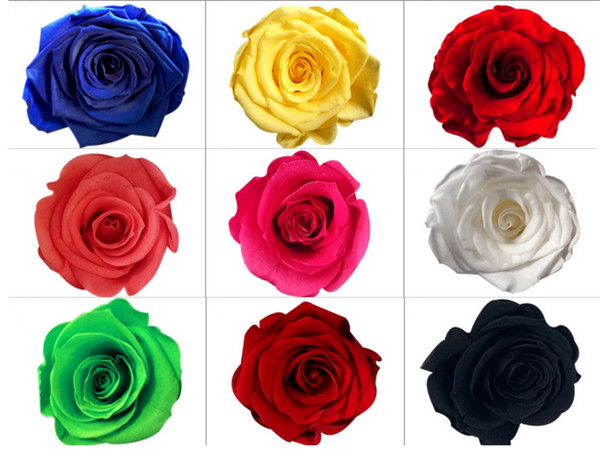 8pcs 4-5cm Preserved Flower Rose Bud Head For Wedding Party Holiday Birthday Velentine's Day Gift Favor