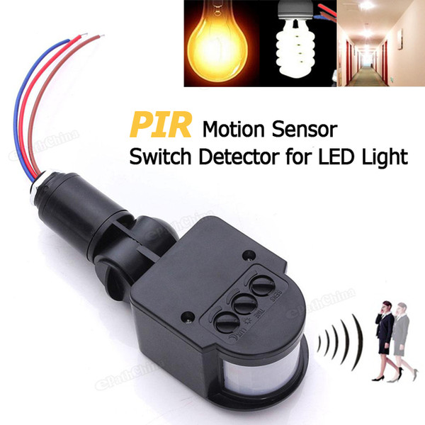 110-220V LED Outdoor Infrared PIR Motion Sensor Detector Wall Light Switch Automatic Convenient Safe Practical LEG_70A