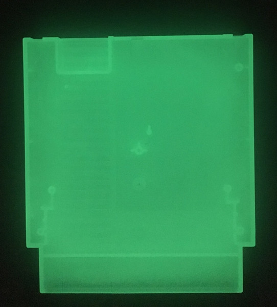 Glowing in the Dark 72 Pins Game Cartridge Replacement Plastic Shell For NES Console