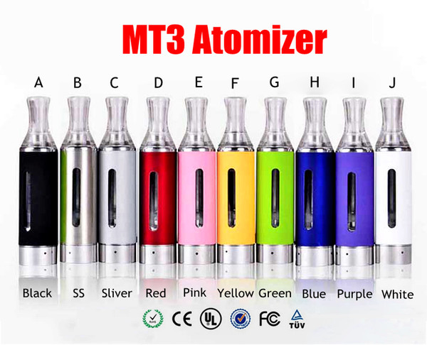 Wholesale- 10pcs MT3 Atomizer EVOD BCC Clearomizer MT3 Atomizer 1.5ml Bottom Coil Tank Cartomizer Electronic Cigarettes Vaporizer tank